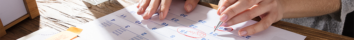 Calendario de Actividades Presenciales